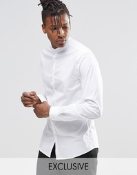 Рубашка суперзауженного кроя с воротником на пуговице Noak - Белый