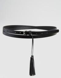 Ремень в два оборота с кисточкой Glamorous - Черный