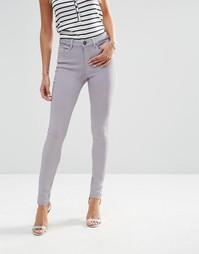 Окрашенные зауженные джинсы ASOS LISBON - Бледно-сиреневый