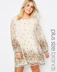 Цельнокройное платье размера плюс с цветочным принтом Yumi Plus