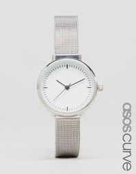 Часы с узким сетчатым ремешком ASOS CURVE - Серебряный