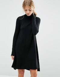 Трикотажное платье‑туника из кашемировой смеси ASOS - Черный