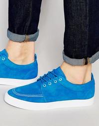 Синие кеды из искусственной замши со шнуровкой ASOS - Синий