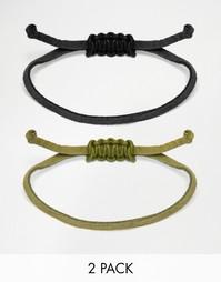 Набор браслетов-шнурков ASOS - Мульти