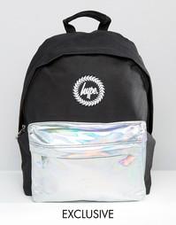 Рюкзак с контрастным голографическим карманом Hype