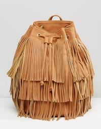 Рюкзак с бахромой Monki - Рыжий