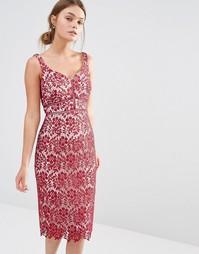 Кружевное платье миди Coast Blakeley - Винный
