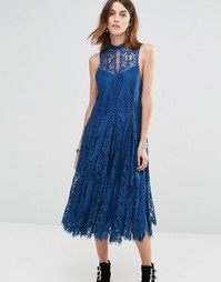 Платье макси Free People Angel Rays - Сапфир