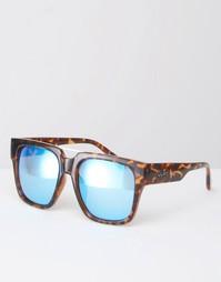 Массивные солнцезащитные очки с зеркальными стеклами Quay Australia x