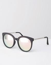 Солнцезащитные очки с розовыми зеркальными стеклами Quay Australia x C