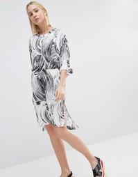Платье-футболка с принтом Weekday - Мульти