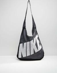 Двусторонняя сумка через плечо Nike - Черный