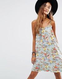 Платье-комбинация с цветочным принтом Young Bohemians - Мульти