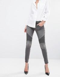 Облегающие джинсы в байкерском стиле JDY - Длина серого 32