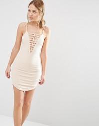 Платье мини Ginger Fizz - Телесный