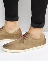 Кожаные туфли Base London Concert - Бежевый