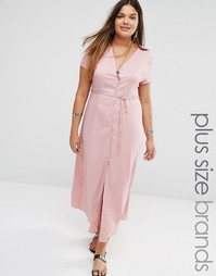 Платье макси с завязкой на талии Alice & You - Розовый