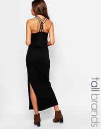 Платье макси с перекрестом сзади и боковым разрезом Vero Moda Tall