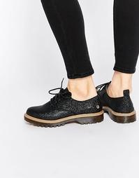 Туфли со шнуровкой и блестками Park Lane - Black fine glitter Blink