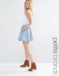 Джинсовая расклешенная юбка Vero Moda Petite - Светло-голубой
