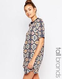 Цельнокройное платье с мозаичным принтом Vero Moda Tall - Мульти