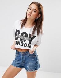Кроп-топ с логотипом Boy London