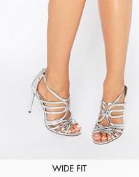 Решетчатые сандалии на каблуке для широкой стопы ASOS HOME AND AWAY