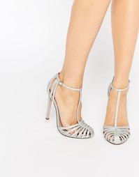 Туфли на высоком каблуке с ремешками ASOS PEACE - Серебряный