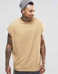 Бежевая oversize‑футболка ASOS - Золотистый
