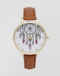 Часы с циферблатом в виде ловца снов ASOS - Рыжий