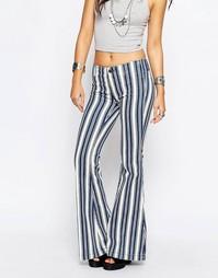 Расклешенные джинсы в полоску Free People Jolene - Белый индиго
