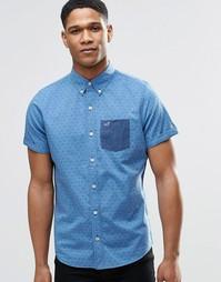 Рубашка слим из кареточной ткани с короткими рукавами Hollister