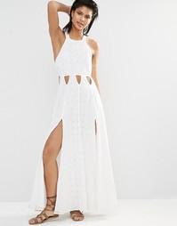Платье макси с разрезами по бокам Tularosa Duchess - Молочный