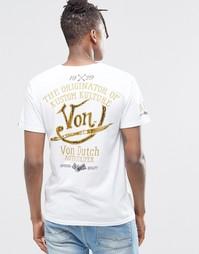 Футболка с принтом на спине Von Dutch - Белый