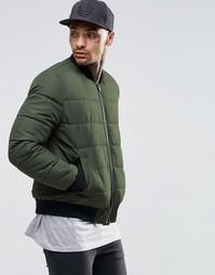 Стеганая куртка-пилот цвета хаки ASOS - Хаки