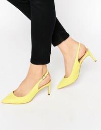 Туфли на каблуке с заостренным носком ASOS SCORPIO - Желтый