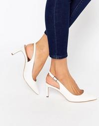 Туфли на каблуке с заостренным носком ASOS SCORPIO - Белый