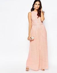 Платье макси с высокой горловиной и декоративной отделкой A Star Is Bo