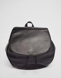 Рюкзак с клапаном Monki - Черный