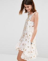 Платье-сорочка с принтом Free People Into You - Чайное комбо