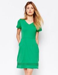 Цельнокройное платье из ткани понте Uttam Boutique - Зеленый