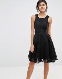 Кружевное короткое приталенное платье Vero Moda - Черный