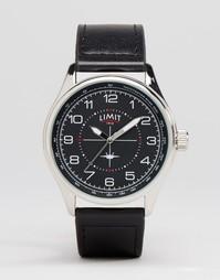 Часы с черным кожаным ремешком Limit Pilot - Черный