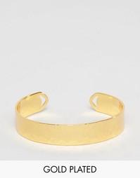 Позолоченный браслет-манжета Gorjana Amanda - Золотой
