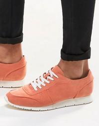 Розовые кроссовки в стиле ретро из искусственной замши ASOS - Розовый