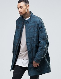 Легкая куртка с камуфляжным принтом ASOS - Хаки