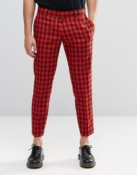 Укороченные облегающие брюки в клетку Religion - Красный