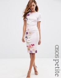 Облегающее платье с цветочным принтом ASOS PETITE - Сиреневый