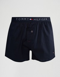 Тканые боксеры Tommy Hilfiger - Темно-синий