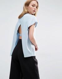 Топ с карманом спереди и открытой спиной на завязках Weekday - Мульти